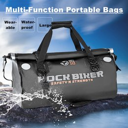 Traveling Back Bags Australia - New 50L Waterproof Motorcycle Tail Bags Back Seat Bags Kit Traveling Bag Motorbike Scooter Sport Luggage Rear Seat Rider Bag Pack