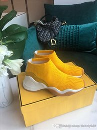 woman pvc socks Australia - Fall winter sneaker for women,Latest low-top sneakers for women ,Yellow,white socks boots height Increasing Shoes with box size 34-41