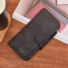 Wholesale Retro PU Leather Women Wallet Coin Purse Phone Clutch Long Organizer Design Lady Card Holder Money Bag