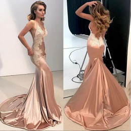 Backless slim prom dresses online shopping - Spaghetti Strips Slim Mermaid Prom Dresses Sexy Backless Simple Custom Sepcial Occasion Party Gowns Spring Vestidos De Soiree