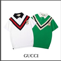 Retail Polo Australia - Wholesale and retail 2019 fashion frontier Europe high-end men's leisure POLO shirt loose comfortable fashion personality short sleeve lapel