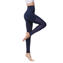 yoga workout pants UK - Women High Waisted Workout Leggings Sport Yoga Pants Elastic Tights Push Up Pants Mesh Patchwork Skinny Pants Fitness Running Dance Trousers