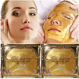 collagen face sheet masks UK - Gold Bio-Collagen Facial Mask Face Mask Crystal Gold Powder Collagen Facial Mask Moisturizing Anti-aging DHL FEDEX Free shipping