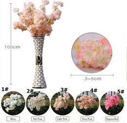 $enCountryForm.capitalKeyWord Australia - 1 Meter Long Artificial Simulation Cherry Blossom Flower Bouquet Wedding Arch Decoration Garland Home Decor For Free Shipping