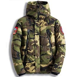 2a774e0c3df96 Man's Winter Jackets Men Cotton Parkas Casual Outerwear Coat Mens Jacket  army Coats Windbreaker Parka streetwear Camo Green XXXL