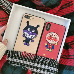 $enCountryForm.capitalKeyWord NZ - For Iphone Xr Xs Max Phone Case Bread Supe Bacteria Kid 6 7 8 X Plus Embroidered Cartoon Soft Edge Cell Phone Cases