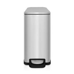 2018 оптовые новейшие мусорный бак квадратный шаг педаль из нержавеющей стали металл мусорный бак главная ванная комната офис и другие небольшие пространства