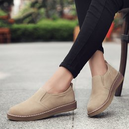9ab70a317db2 Spring women flats sneakers shoes women slip on flat loafers suede leather  shoes handmade boat shoes black oxfords
