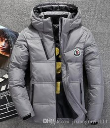 Hooded Parka Mens White Australia - Classic Brand Men Winter Outdoor white Duck Down Jacket man casual hooded Down Coat mens warm jackets Parkas