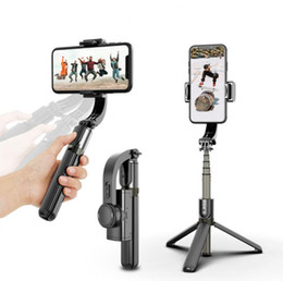 L08 Handheld Grip Stabilizer Tripod 3 in 1 Selfie Stick Handle Remote Holder Selfie Stand for iphone Android Huawei Mini Tripods on Sale