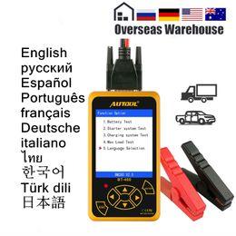 Analysis Tester NZ - AUTOOL BT460 Battery Tester Car Digital Diagnostic Tool Analysis Instruments Lead-acid CCA AGM GEL Auto Battery Analyzer 12V 24V