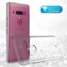 Desire Hard Case Australia - Acrylic+TPU Hard Transparent Cover Case for HTC U12 Plus U11 Life Ocean Desire 530 630 550 555 Anti-scratch Clear Hybrid Skin