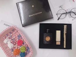 Famosa Y Marca de maquillaje Set Perfume Mascara Lápiz Labial Edición de Belleza 3 en 1 Maquillaje en venta