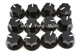 fender basses UK - 12pcs Niko Larger Heptagon Black White Point Control Knobs Electric Guitar Jazz Bass Effect Knobs Amplfier Knobs Free Shipping