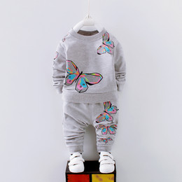 Cute Casual Spring Outfits NZ - good quality spring autumn girls clothing sets cartoon long sleeve sports suits casual uniform outfits fashion hot sale tracksuits