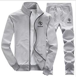 Large Lapel Suits Australia - Large Size Tracksuit Men Set 2019 Brand Sporting Suit Track Sweat Print Sweatsuit Male Sportswear Jackets Hoodie with Pants