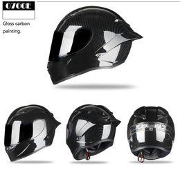 $enCountryForm.capitalKeyWord Australia - full face black red moto safe hat helmet with rear wing carbon painting motorcycle racing ECE R22 helmet