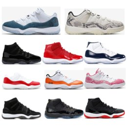table tennis shoes for size 2020 - 2019 New basketball shoes 11s for mens CONCORD 23 45 LIGHT BONE PINK SNAKESKIN womens trainers sports sneaker size 5.5-1