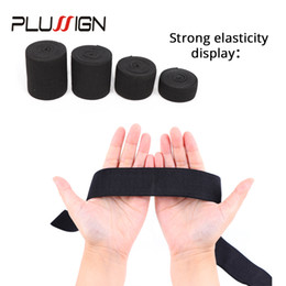 Wholesale 5Meters Width cm Black Elastic Band For Wigs Spandex Belt Trim Sewing Ribbon Clothes Flex Sewing Material Elastic Wig Bands