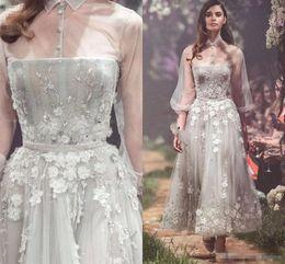 ce39e46471f Short paolo SebaStian online shopping - Paolo Sebastian D floral Lace  Appliqued Prom Dresses Sheer High