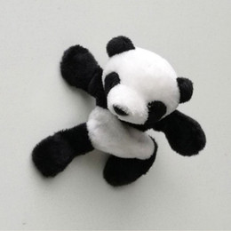 magnet plush UK - Cute Soft Plush Panda Fridge Magnet Refrigerator Sticker Souvenir Decor Gift