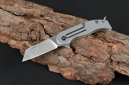 $enCountryForm.capitalKeyWord Australia - On Sale! Mini Small Keychain Folding Knife D2 Satin Blade TC4 Titanium Alloy Handle EDC Pocket Knives