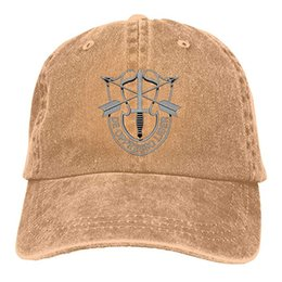 Special Forces Caps NZ - 2019 New Cheap Baseball Caps US Special Forces Insignia Mens Cotton Adjustable Washed Twill Baseball Cap Hat
