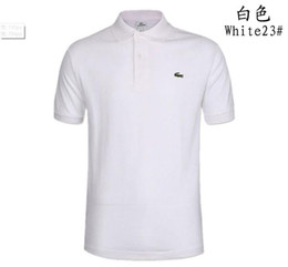Wholesale patchwork shirts for men resale online – Trend Shirt for Man Women High Polo Street Top Tee Fashion and Professional Designer Summer Polo Shirt Embroidery Mens Polo T ShirtsIte