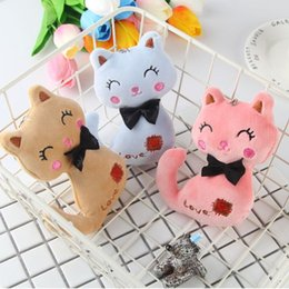 $enCountryForm.capitalKeyWord Australia - Hot 3Colors , Little Size 12CM NEW Cat Plush , Animal Stuffed Kitty Cat Key chain TOY, Kid's Party Plush TOY , Bouquet Plush Dolls