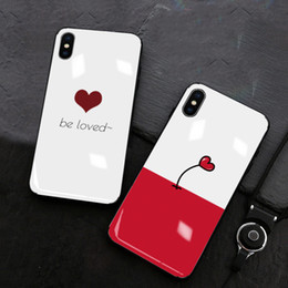 Designs For Iphone Cases Australia - Romantic Hear Love Design Glass Cell Phone Case for iPhone XS MAX XR 678P Mobile Phone Cases for Women Men Lover Couples for huawei p20pro