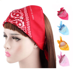 Wholesale Fashion Hip Hop Head Wrap Creative Cotton Square Bandanas Neck Wrist Band Amoeba Print Bows Scarves Hair Accessories LJJT659