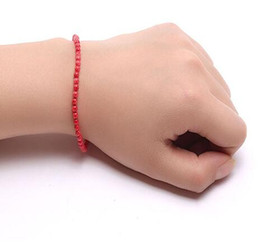 $enCountryForm.capitalKeyWord Australia - Coral Bracelet 4mm Red Coral Beads Bracelet 7.5""