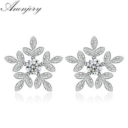 Jewelry & Accessories Drop Earrings Symbol Of The Brand 2018 New Arrival Ice Snow Flower Design 925 Sterling Silver Ladies Drop Snowflake Earrings Jewelry Birthday Gift Wholesale With A Long Standing Reputation