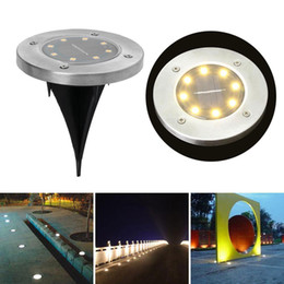 solar power lawn lights Australia - Underground Light 8 LED Solar Power Buried Light Under Ground Lamp Outdoor Path Way Garden Lawn Yard Outdoor Lighting