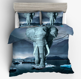 $enCountryForm.capitalKeyWord Australia - Home Textile 3D Oil Painting Elephant Twin Full Queen King Size 2 3PCS Polyester Bedding Set Quilt Cover 2*Pillowcase
