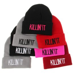 Discount womens winter skull caps - Designer K Letters Embroidery Beanies Hats Hip Hop Word Winter Hat For Adults Mens Womens Head Ear Warmer Acrylic Knitte