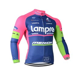 mens sports quick dry shirt Australia - Lampre Lotto team Cycling long Sleeves jersey Breathable Quick Dry Outdoors Sports Tops Bike Wear Clothes Summer mens Ropa de ciclismo