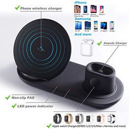 Wholesale 3 in Wireless Charger Stand for Apple Watch and Airpods Qi Fast Wireless Charging Station Compatible for iPhone X XS XR
