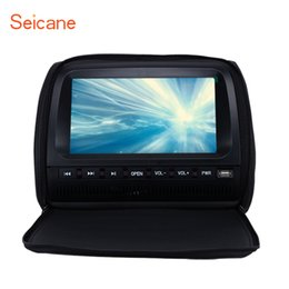 $enCountryForm.capitalKeyWord NZ - Seicane Car Headrest DVD Player with FM Games Wireless Infrared earphone USB port and Zipper Cover Blue Black Beige 1 PCS