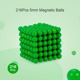 $enCountryForm.capitalKeyWord Australia - 216Pcs 5mm Magnetic Balls Puzzle with Luminous Effect Magic Iron Puzzle Cube Intelligence Development and Stress Relief Toy