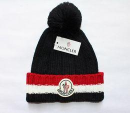 2019 mens chapéus de grife gorro de inverno gorro de lã tricotada chapéu além de gorros de veludo Mais grosso máscara Fringe gorros para homens venda por atacado