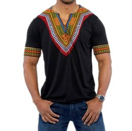 Wholesale African Shirts Australia - african men clothes roupa africana dashiki men africa african Short sleeve print shirts for nigerian traditional clothing
