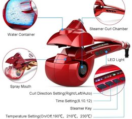 $enCountryForm.capitalKeyWord Australia - Automatic Hair Steam Curler Ceramic Curling Iron Bar Salon Professional Car Rotating Styling Steamer Spray Curl Spiral Machine Tool with LED