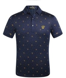 Venta al por mayor de 2019 moda de lujo etiqueta de impresión de los hombres camiseta diseñador Medusa camisa de verano Polo camisa de polo camisa de hombre ropa