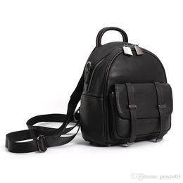 Small Ladies Backpacks Handbags Australia - Cute Leather Ladies Shoulder Bag Top Layer Leather High-grade Small Backpack Girl Temperament Casual Handbag Natural Bag