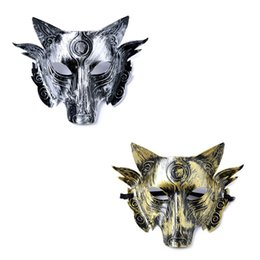 Black wolf mask online shopping - Halloween Animal Performing Bar Horror Mask Men The Wolf Killed Game Stage Masked King Face Masquerade Mask Party