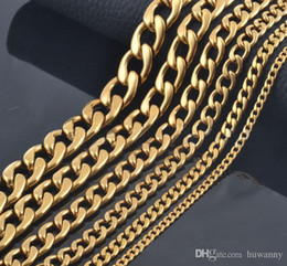 ship chain gold NZ - 9.5mm Gold Chains Necklaces For Men Titanium Steel Dragon Bone Link Chain Necklace 18-28inch Jewelry wholesale Free Shipping - 0759WH-9.5