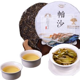 green tea cakes Canada - Preference 357g Yunnan Pasha Ancient Tree Pure Material Pu'er Tea Raw Puer Tea Organic Pu'er Old Tree Green Puer Natural Puerh Tea Cake