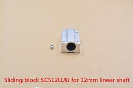 12mm Bearing Australia - SC12LUU SCS12LUU bearing 12mm linear bearing slide block for 12mm rod round shaft XYZ Table CNC 1pcs