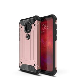 Wholesale moto z3 resale online - Hybrid Case for MOTO G7 Power G6 G5S plus E5 E4 C Z3 plus Play Armor Case Shockproof PC TPU back cover